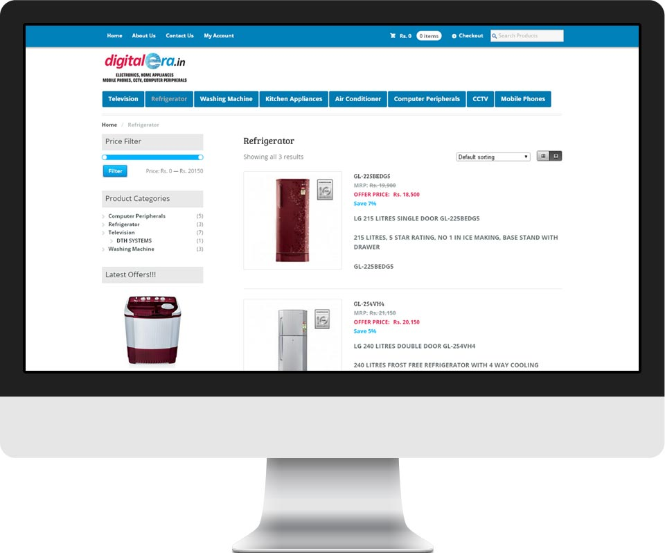 responsive ecommerce website design - Digital Era