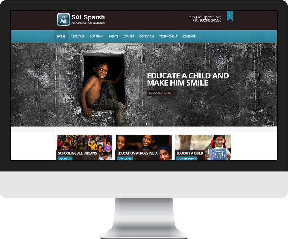 Responsive Website for NGO - SAI Sparsh